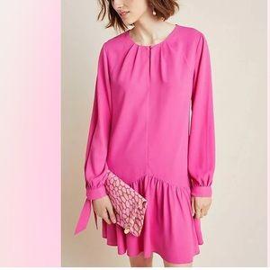 NEW Anthropologie Mare Mare Pink Tie Wrist Dress